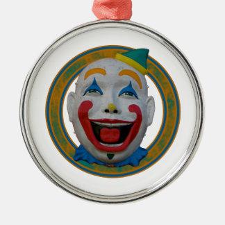 Lycklig clown julgransprydnad metall