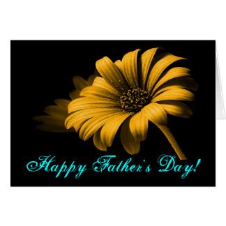 Lycklig daisy för fars dagorangegult hälsningskort