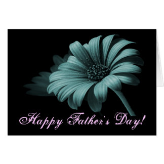 Lycklig daisy V för fars daggrå färgblått Hälsningskort