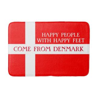 Lycklig Danmark badmatta! Badrumsmatta
