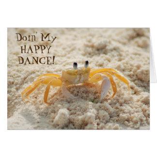 Lycklig dans för gullig Sandkrabba Hälsningskort