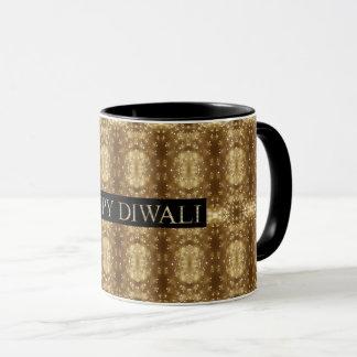 Lycklig Diwali festival av ljusönskemåltypografi Mugg