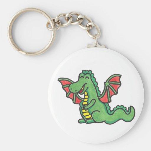 Lycklig drakekeychain nyckelringar