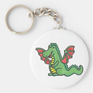 Lycklig drakekeychain rund nyckelring