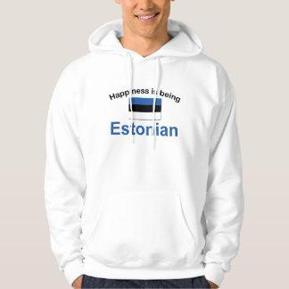 Lycklig estländare sweatshirt