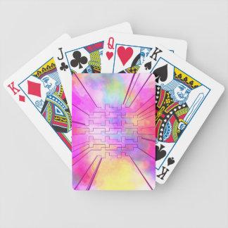 lycklig färgar rosor spelkort