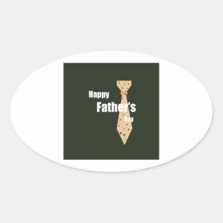 Lycklig fars dag ovalt klistermärke