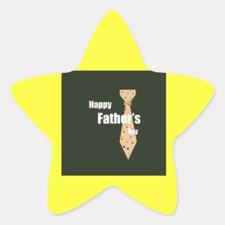Lycklig fars dag stjärnformat klistermärke