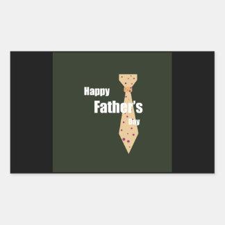 Lycklig fars dag retangel klistermärke