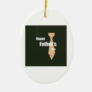 Lycklig fars dag ovalformad julgransprydnad i keramik