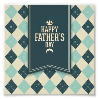Lycklig fars dag pläd, grön beige, trendig, roligt