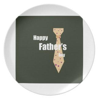 Lycklig fars dag dinner plates