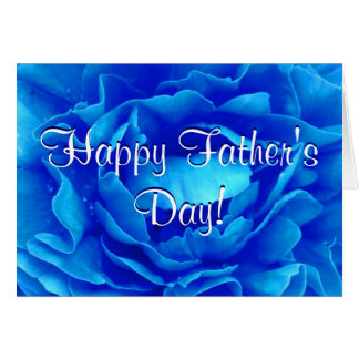Lycklig fars dagblåttro hälsningskort