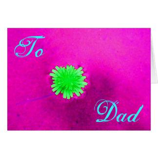 Lycklig fars daggröntblomma mig hälsningskort