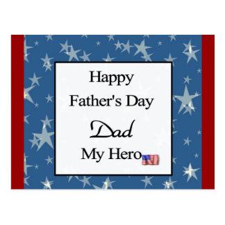 Lycklig fars dagpappa min hjälte vykort