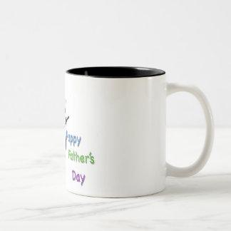 lycklig fars dagpappa Två-Tonad mugg