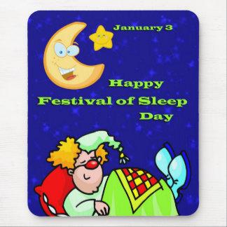 Lycklig festival av sömndagen Januari 3 Mus Matta
