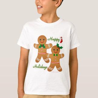 Lycklig flicka för helgdagpepparkaksgubbepojke tröja