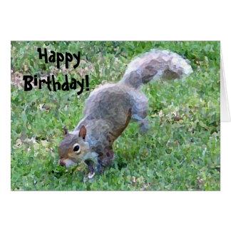 Lycklig födelsedag! Squirrelly kort