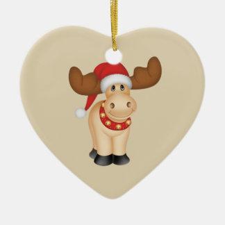 Lycklig Folkart ren Hjärtformad Julgransprydnad I Keramik