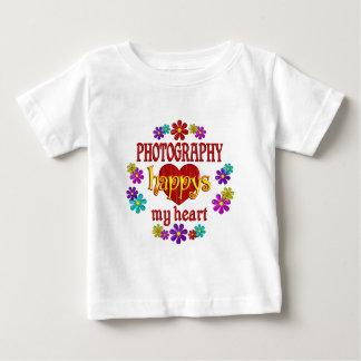 Lycklig fotografi t-shirts