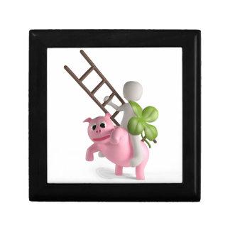 lycklig gris minnesask