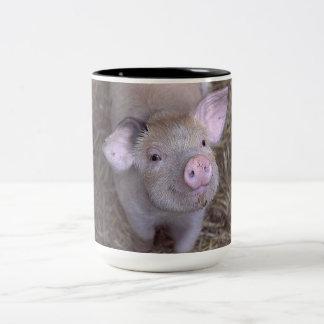 Lycklig grismugg Två-Tonad mugg
