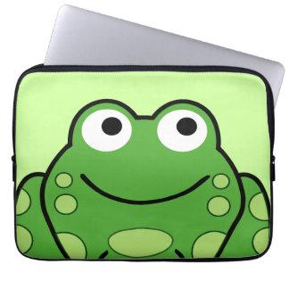 Lycklig groda laptop sleeve