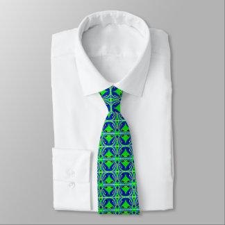 Lycklig grönt slips