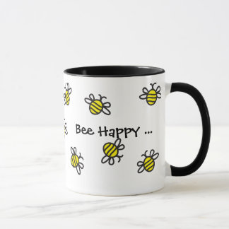 """Lycklig"""" gullig humlamugg """"för bi"""
