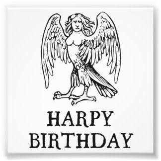 Lycklig Harpyfödelsedag Fototryck