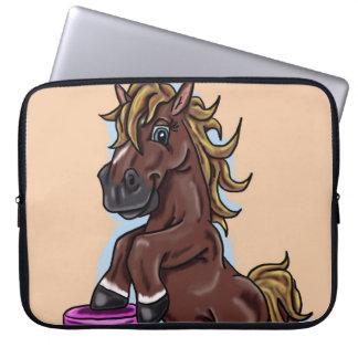 Lycklig häst laptop fodral