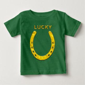 Lycklig hästsko i guld tee shirt