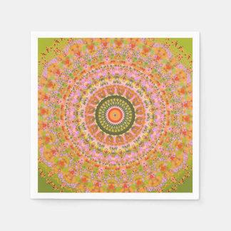 Lycklig Hippy Mandala Papper Servett