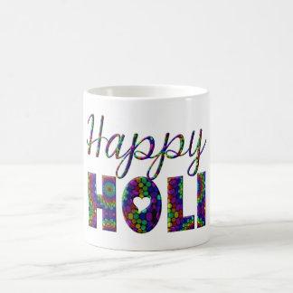 Lycklig Holi forntida hinduisk festival av färger Kaffemugg