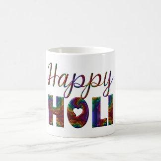 Lycklig Holi forntida hinduisk festival av kärlek Kaffemugg