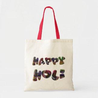 Lycklig Holi hinduisk vårfestival av färgkonst Tygkasse