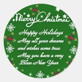 Lycklig Holidays#4_ Runt Klistermärke