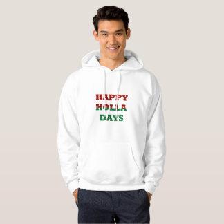 lycklig holladagmanar hooded tröja för hoodie