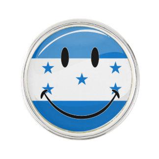 Lycklig honduransk flagga för skina runda rockslagsnål