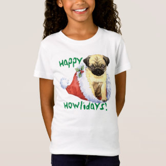 Lycklig Howliday mops Tee Shirt