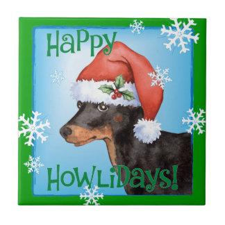 Lycklig Howlidays leksakManchester Terrier Kakelplatta