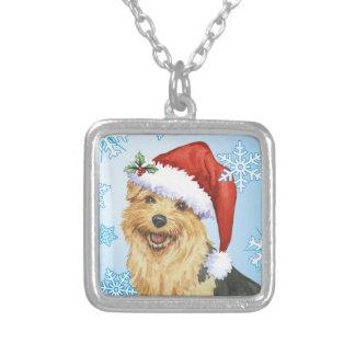 Lycklig Howlidays Norfolk Terrier Silverpläterat Halsband