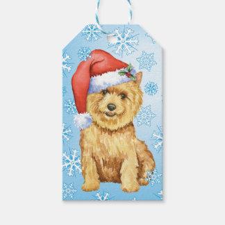 Lycklig Howlidays Norwich Terrier Presentetikett