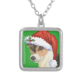 Lycklig Howlidays Russell Terrier Silverpläterat Halsband
