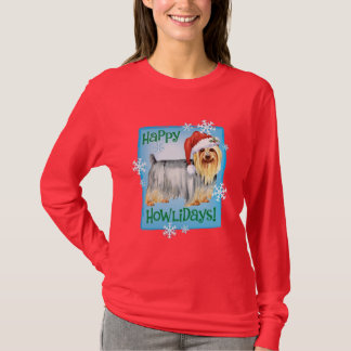 Lycklig Howlidays silkeslen Terrier T Shirt