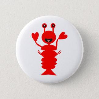 Lycklig hummer standard knapp rund 5.7 cm