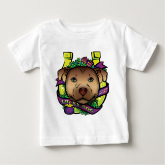 Lycklig hund t-shirt