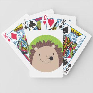 Lycklig igelkott - skogsmarkvänner spelkort