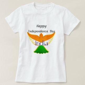 Lycklig independence day Indien (flagga på T Shirt